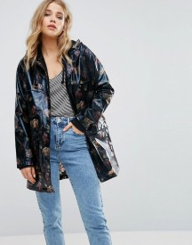 New Look Floral Patent Anorak afbeelding