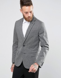 New Look Jersey Blazer In Mid Grey afbeelding