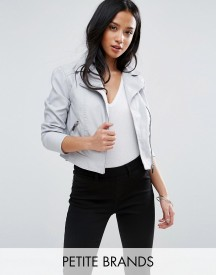 New Look Petite Faux Leather Biker Jacket afbeelding