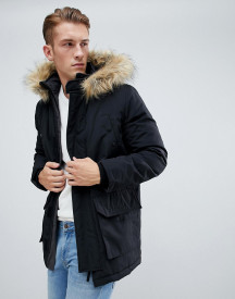 New Look Traditional Parka Jacket In Black afbeelding