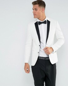 New Look Tuxedo Jacket In White afbeelding