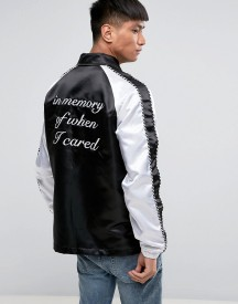 Night Addict Embroidered Back Coach Jacket afbeelding