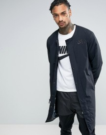 Nike Air Longline Bomber Jacket In Black 830631-010 afbeelding