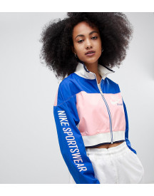 Nike Archive Track Jacket In Pink And Blue afbeelding