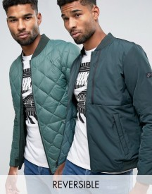 Nike Reversible Padded Bomber Jacket In Green 806831-364 afbeelding