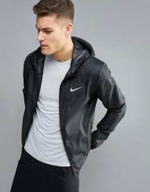 Nike Running Shield Racer Jacket In Black 800492-010 afbeelding