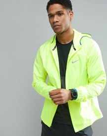 Nike Running Shield Racer Jacket In Yellow 800492-703 afbeelding