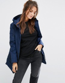 Nike Short Padded Parka In Navy afbeelding