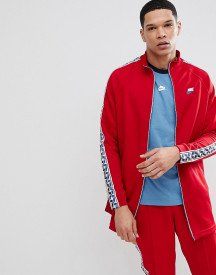 Nike Track Jacket With Taped Side Stripe In Red Aj2681-687 afbeelding