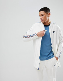 Nike Track Jacket With Taped Side Stripe In White Aj2681-133 afbeelding