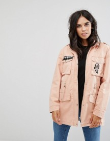 Noisy May Lex Cargo Jacket With Patches afbeelding
