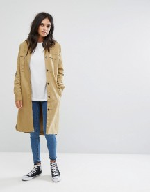 Noisy May Vella Collarless Trench Coat afbeelding