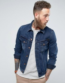 Nudie Jeans Co Billy Denim Jacket Deep Indigo Wash afbeelding