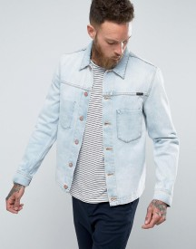 Nudie Jeans Co Ronny Denim Jacket Crispy Ocean Light Wash afbeelding