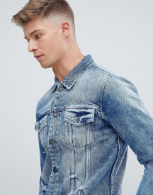 Only & Sons Denim Jacket In Washed Blue afbeelding