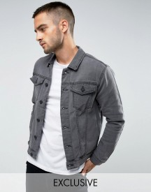 Only & Sons Denim Jacket In Washed Grey afbeelding