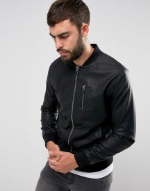 Only & Sons Faux Leather Bomber Jacket afbeelding