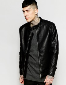 Only & Sons Faux Leather Jacket afbeelding