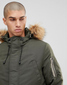 Only & Sons Padded Jacket With Removable Faux Fur Hood afbeelding