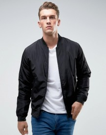 Only & Sons Paded Bomber Jacket With Ma-1 Pocket afbeelding