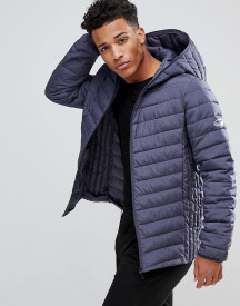 Only & Sons Quilted Jacket With Full Zip Hood In Melange Nylon afbeelding