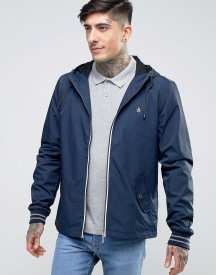 Original Penguin Lightweight Jacket Hooded Nylon In Navy afbeelding