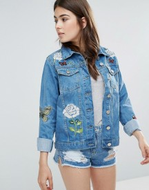 Parisian Je T'aime Embroidered Denim Jacket afbeelding
