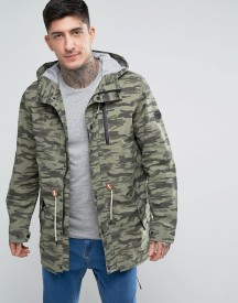 Parka London Taped Seam Camo Print Parka afbeelding