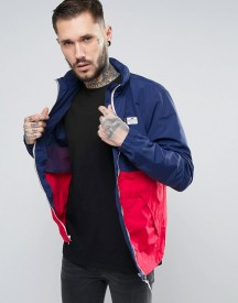 Penfield Barnes Two Tone Jacket Concealed Hood In Navy/red afbeelding