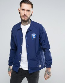 Penfield Howard Coach Jacket Nylon P Logo In Navy afbeelding