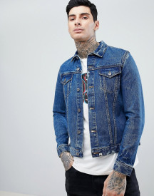 Pretty Green Denim Jacket In Blue afbeelding
