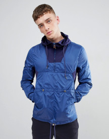 Pretty Green Overhead Windbreaker In Navy afbeelding