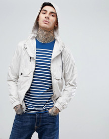 Pretty Green Zip Through Hooded Jacket In Stone afbeelding