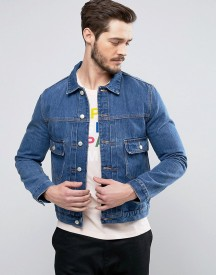 Ps By Paul Smith Denim Worker Jacket In Mid Blue afbeelding