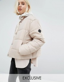 Puffa Oversized Collarless Padded Jacket afbeelding