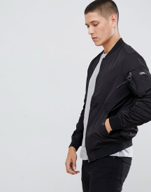 Pull&bear Ma1 Bomber In Black afbeelding