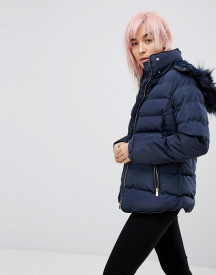 Qed London Padded Jacket With Hood afbeelding