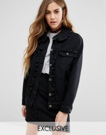 Reclaimed Vintage Denim Jacket With Frill Detail Co-ord afbeelding