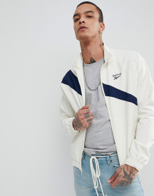 Reebok Vector Track Jacket In White Ce4996 afbeelding