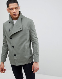 Religion Asymmetric Jacket In Khaki afbeelding