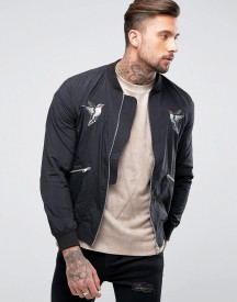 Religion Bomber Jacket With Souvenior Embroidery afbeelding