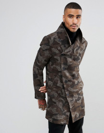Religion Coat With Asymmetric Buttons In Camo afbeelding