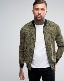 Religion Exclusive Jersey Bomber Jacket With All Over Print afbeelding