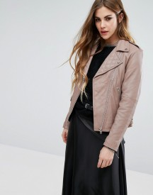 Religion Leather Biker Jacket afbeelding