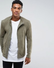 Religion Suede Jacket With Asymmetric Zip afbeelding