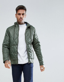 Ringspun Quilted Hooded Jacket afbeelding