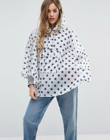 Rock & Religion Polka Dot Printed Poncho Pac-a-mac afbeelding
