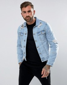 Rose London Denim Jacket With Distressing afbeelding