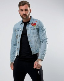 Rose London Denim Jacket With Floral Embroidery afbeelding
