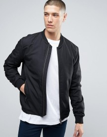 Selected Homme Bomber Jacket With Two Way Zip afbeelding